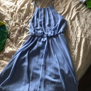 Periwinkle blue cocktail dress